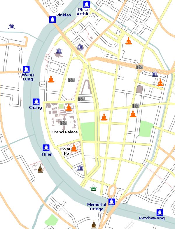 River Map Bangkok