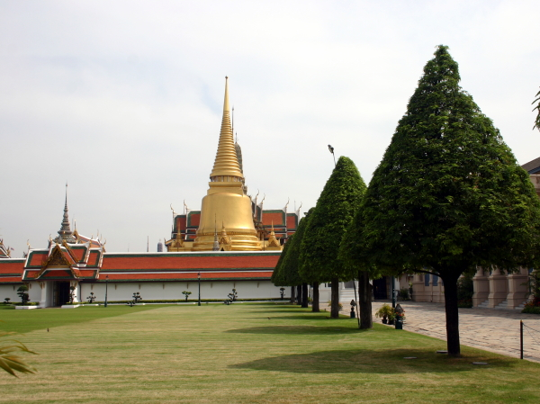 The spires of the Temple of the Emerald Buddha in the Grand Palace