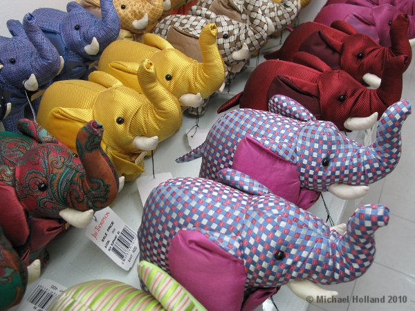 Seeing pink elephants - and all other colors - shopping in Bangkok